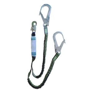 Energy absorbers and lanyards